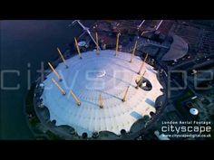 London Aerial Footage - O2 Arena / Millenium Dome London Bridge, London City, Aerial Footage, London Eye, Architecture, Arquitetura, Architecture Design