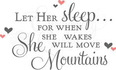 Nursery Wall Quotes   Vinyl Wall Quotes, Sleeping Baby Decals