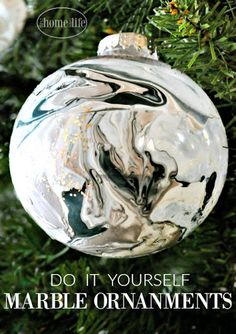 White marble glass ornament custom ornament name white marble diy marble ornaments solutioingenieria Image collections