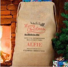 "Di's Home Decor on Twitter: ""Personalised Santa Sack £20 #santa #santasack #xmas #christmas #buyonline #onlineshop #mums #santagifts #sack #toysack #bargain #buyitnow https://t.co/73BwgRMpTz"""