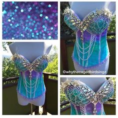 Ombre Starfish Mermaid Corset by seagypsy couture [formerly…