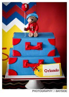 Paddington Bear Party first birthday cake