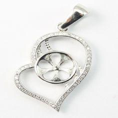 Pendentif cœur pour perle