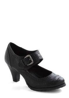 Wingtip Top Heel in Black Modcloth