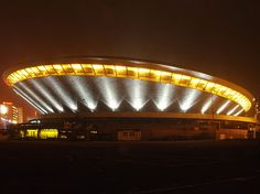 Spodek (The Saucer - a multipurpose arena complex) - Katowice, Poland Sports Complex, Central Europe, My Heritage, Warsaw, Homeland, The Good Place, Travel Inspiration, Places To Visit, Play Volleyball