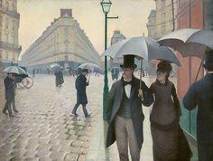 Gustave Caillebotte, Strada di Parigi in un giorno di pioggia, 1877. Art Institute of Chicago