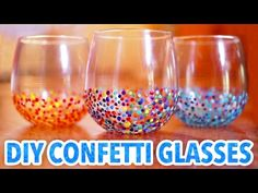 DIY Confetti Glasses - HGTV Handmade, My Crafts and DIY Projects