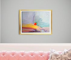 Items similar to Modern Abstract Bright Print Painting Luxury Wall Art on Giclee Framed Ready to Hang Art for Living Room Home Decoration, 2 on Etsy Painting Prints, Wall Art Prints, Fine Art Prints, Abstract Landscape, Landscape Paintings, Abstract Art, Small Bedroom Ideas For Women, Mandala Artwork, Bright Art