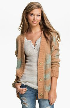 Blu Pepper Oversized Leopard Spot Cardigan (Juniors) available at #Nordstrom