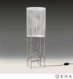 Traffic - Tall Table Lamp by OKHA Design & Interiors