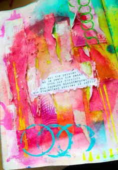 .fabulous colourful art journalling