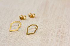 Israel earrings. Golden earrings earrings. von ShaniJacobiJewellery, $14.00