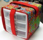 SEWING TOTE, DRAWERS - this would be great for taking craft supplies in the RV or for the condiment drawers that keep coming open.