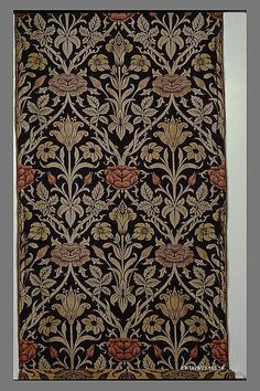 """Rose and Lily"""" John Henry Dearle  (British, 1860–1932)  Manufactory:     Morris & Company Date:     ca. 1905 Culture:     British, Merton Abbey, Surrey Medium:     Silk and wool"""