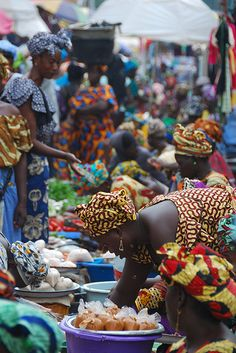 """""""Serekunda is the country's largest and most economically vibrant town, as well as being the most important transport hub on the River Gambia. African Life, African Culture, African Women, African Fashion, Out Of Africa, West Africa, South Africa, African Market, Liberia"""
