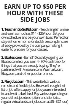 earn up to 50 per hour with these side jobs