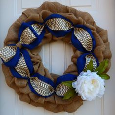 Spring Wreath/Spring Wreaths for Front Door/Burlap Wreath/Spring Door Wreath/Front Door Decor/Spring Burlap Wreath/Summer Burlap Wreath by oneofakindwreath. Explore more products on http://oneofakindwreath.etsy.com