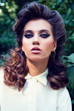Vogue shot..love the makeup and hair!