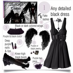 """DIY Dark Angel Costume"".... Because the Lil sis wants to be an angel, I can be the Dark Angel :)"