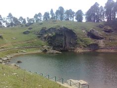 A lake at Jalorijot top in Kullu district of Himachal Pradesh