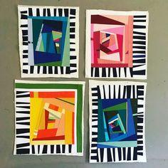 Middle School Art Sub Idea – Abstract Name Designs Middle School Art, Art School, Programme D'art, Collage Kunst, Classe D'art, Quilt Modernen, 6th Grade Art, Art Curriculum, School Art Projects