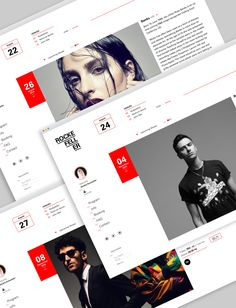 A self-initiated project to redesign the web concept for the concert hall in Oslo by the name Rockefeller.Visit their current website here: www. Web Design, Type Setting, Concert Hall, Oslo, Case Study, Concept, Website, Behance, Mobile Ui