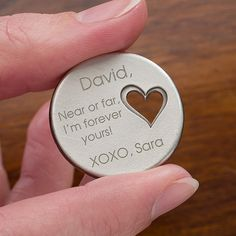 Personalized Pocket Token Charms - Military Love - 12703