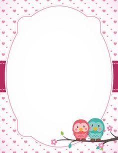 Valentine Owl Border