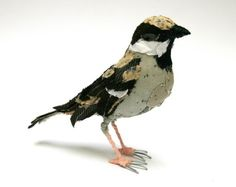 Lovely! Hand-stitched bird by abigail brown
