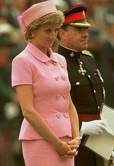 May 20, 1995: Diana, Princess of Wales during a visit to the Queen's Royal Hampshire Regiment at Howe Barracks, Canterbury, Kent.