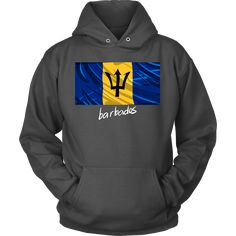 """Barbados Graphic Patriotic Vintage Flag Hoodie"