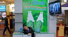a booth with something called Oxyshot. But wait, the clerk is out cold, must be the thin air. http://www.gypsynester.com/peru-altitude.htm