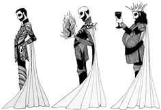 House Baratheon by cabins King Renly Baratheon, King Stannis Baratheon with Melisandre, King Robert Baratheon