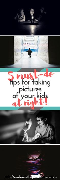 How to take pictures of your kids at night. Love these photography tips for parents!