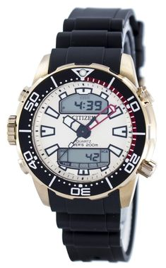 #Citizen #Aqualand Promaster Divers 200M Analog Digital JP1093-11P Mens Watch Crystal Champagne, Authentic Watches, 200m, Watch Sale, Watches Online, Casio Watch, Stainless Steel Case, Watches For Men, Analog Signal