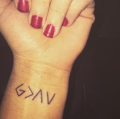 God is greater than the highs and lows. #love #tattoo