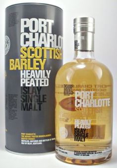 Port Charlotte Scottish Barley 50% Heavily peated Islay Single Malt Whisky from the Bruichladdich Distillery