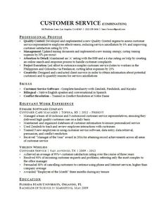 30 customer service resume examples - Resume Ideas For Customer Service