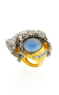 Siyabona Gold Cerulean Panther Ring by Alexis Bittar - Moda Operandi