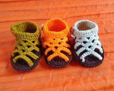crochet baby sandals,crochet baby  shoes,baby girl crochet sandal,Size 0-3 .3-6 months,6-12 months, Newborn sandals