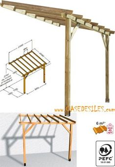 Cheap Pergola For Sale Carport Designs, Pergola Designs, Back Patio, Patio Roof, Diy Patio, Backyard Patio, Diy Awning, Shade House, Lean To