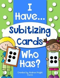 I Have - Who Has Subitizing Cards:  This download includes two sets of cards for small group practice and/or independent math centers.  #mathgames  #subitizing  ($)