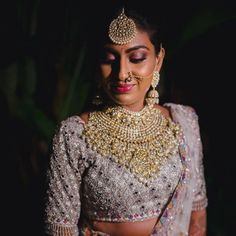 Indian Bridal Fashion, Indian Wedding Jewelry, Jewelry Design Earrings, Necklace Designs, Necklace Ideas, Bridal Necklace, Bridal Jewelry, Pink Bridal Lehenga, Saree Trends