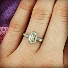 Do you love Emerald cut diamonds?? Then you are sure to love our latest addition to the #singlestone family!! #love #vintage #emerald #classic #diamond #instajewels #handcrafted #dtla #weddingring @singlestonemissionstreet