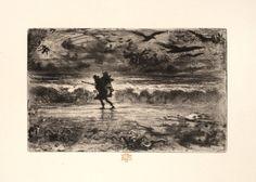 Félix Buhot (1847-1898) Le Peintre de marine ou Le Jour du terme. Vers 1879