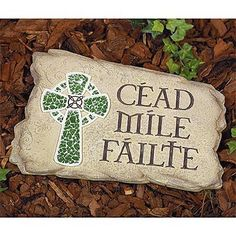 Abbey Press Cead Mile Failte Irish Cross Garden Stone Hundred Thousand Welcomes by Abbey Press. $28.99