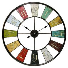 I pinned this Kaleidoscope Wall Clock from the Organized & Out the Door event at Joss and Main!