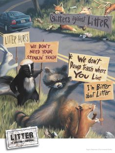 Save The Planet ● Critters Against Litter Save Planet Earth, Save Our Earth, Save The Planet, Salve A Terra, Angst Quotes, Funny Animals, Cute Animals, St Just, Protest Signs