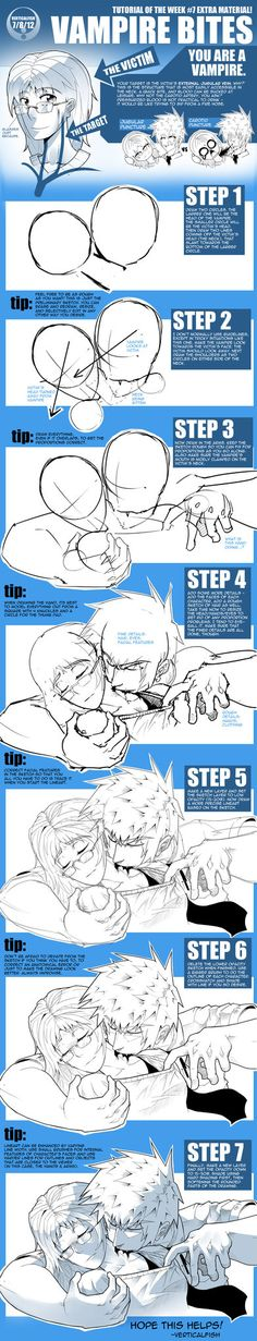 This popped up in my head when suggested that I draw a tutorial on how to draw a vampire biting someone. I figured since this week was blood week ([link]), I might as well stick this on as a coroll...