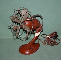 "ANTIQUE ELECTRIC FAN RARE FITZGERALD 8"" ART DECO FAN"